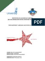 MBA ITM Marketing Management Report