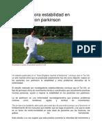 Tai Chi Mejora Estabilidad en Pacientes Con Parkinson