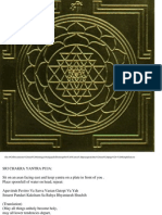 Sri Yantra Pranapratistha and Puja- Simplified Procedure