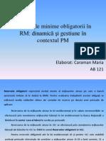 Rezervele minime obligatorii în RM