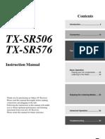 Onkyo TX SR506 User Manual