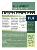 Ministry Leader Newsletter