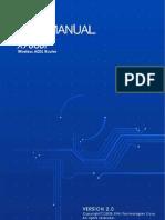 ManualUsuario Fabricante X7868 Ingles