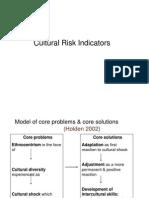 Cultural Risk Indicators