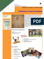 E-Revista #17 Serie 3. Febrero 2013 Desarrollo físico integral