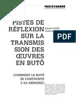 S. Pagès V. Salvatierra Pistes de réflexion sur la transmission des oeuvres en buto