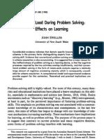 Cognitive Load During Problem Solving: