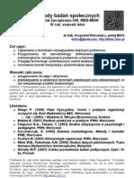 Metody Badan Spolecznych MSD 2009 Program