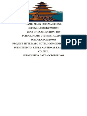 Bulumas Ms Word ABC Hotel Management System1 | Operating