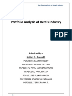 Hotel Industry- Portfolia Analysis