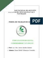 Perfil de Trabajo Endulzantes de Stevia 04-03-10