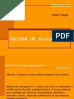 Adrian Nagel - Metode de Management