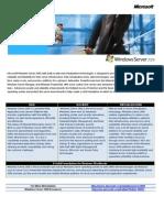 Data Sheet Windows2008Server