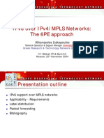 ALiakopoulos - 6PE - 3rd Global IPv6 Summit