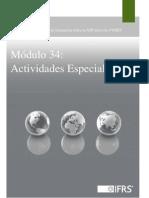 seccion 34 actividades especiales