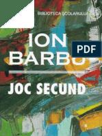 Barbu Ion - Joc Secund