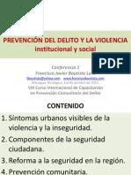 Francisco Bautista Conferencia 1 Prevencion Del Delito y La Violencia
