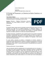 El Principio de Prevención y el Derecho de Daños Colectivos, en  el siglo XXI.