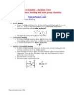 UNIT 1 Structure, Bonding and Main Group Chemistry Part 2