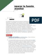 Cómo reparar la fuente de tu monitor