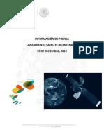 Kit Prensa Lanzamiento Satelite Bicentenario