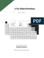 Schmid - Chemie für Maschinenbau