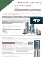 Catalogue Fermentation Storage Vessels