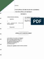 dorner california appeals court brief