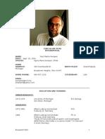Curriculum Vitae of Paul Kempen, MD