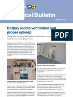Battery Room Ventilationa and Proper Upkeeping