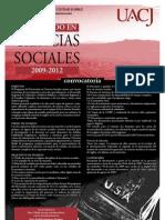 Doctorado en Ciencias Sociales por la UACJ