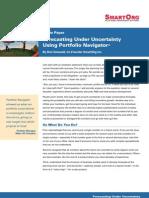 Forecasting Under Uncertainty Using Portfolio Navigator