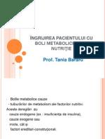 +ÄNGRIJIREA PACIENTULUI CU BOLI METABOLICE +PI DE NUTRI+óIE