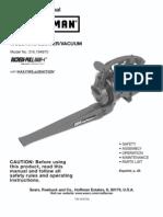 Craftsman Leaf Blower users manual