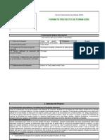 Formulario de proyecto