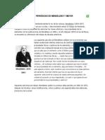 TABLAS PERIÓDICAS DE MENDELEIEV Y MEYER