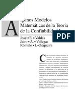 Algunos Modelos Matematicos de La Teoria de La Confiabilidad