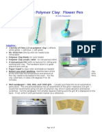 Polymer Clay Flower Pen Tutorial