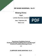 Soal Teori Essay Praktik Dan Pembahasan Osn Kimia Tingkat Nasional Tahun 2005