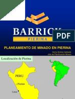 Planeamiento en Pierina-BARRICK