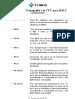 Calendário mono e TCC 2011 2 - professor