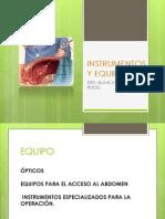 Instrumentos y Equipo de Laparoscopia