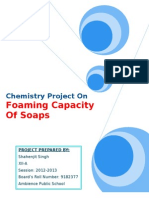 Chemistry Project on Foaming capacity of soaps