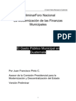 Gasto Publico Municipal