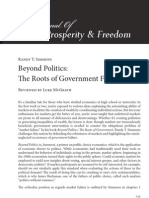 Beyond Politics the Roots of Government Failure (Book Review)