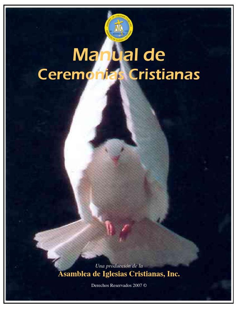 Ceremonia De Matrimonio Biblia Del Ministro : Manual de ceremonias cristianas