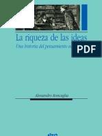 Alessandro Roncaglia La Riqueza de Las Ideas. Una Historia Del Pensamiento Economico