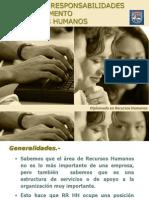 2. Funciones y Responsabilidades Del Depto. de Rrhh