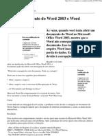Ilegível documento do Word 2003 e Word Recovery