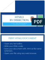 HTML5 by Dissection